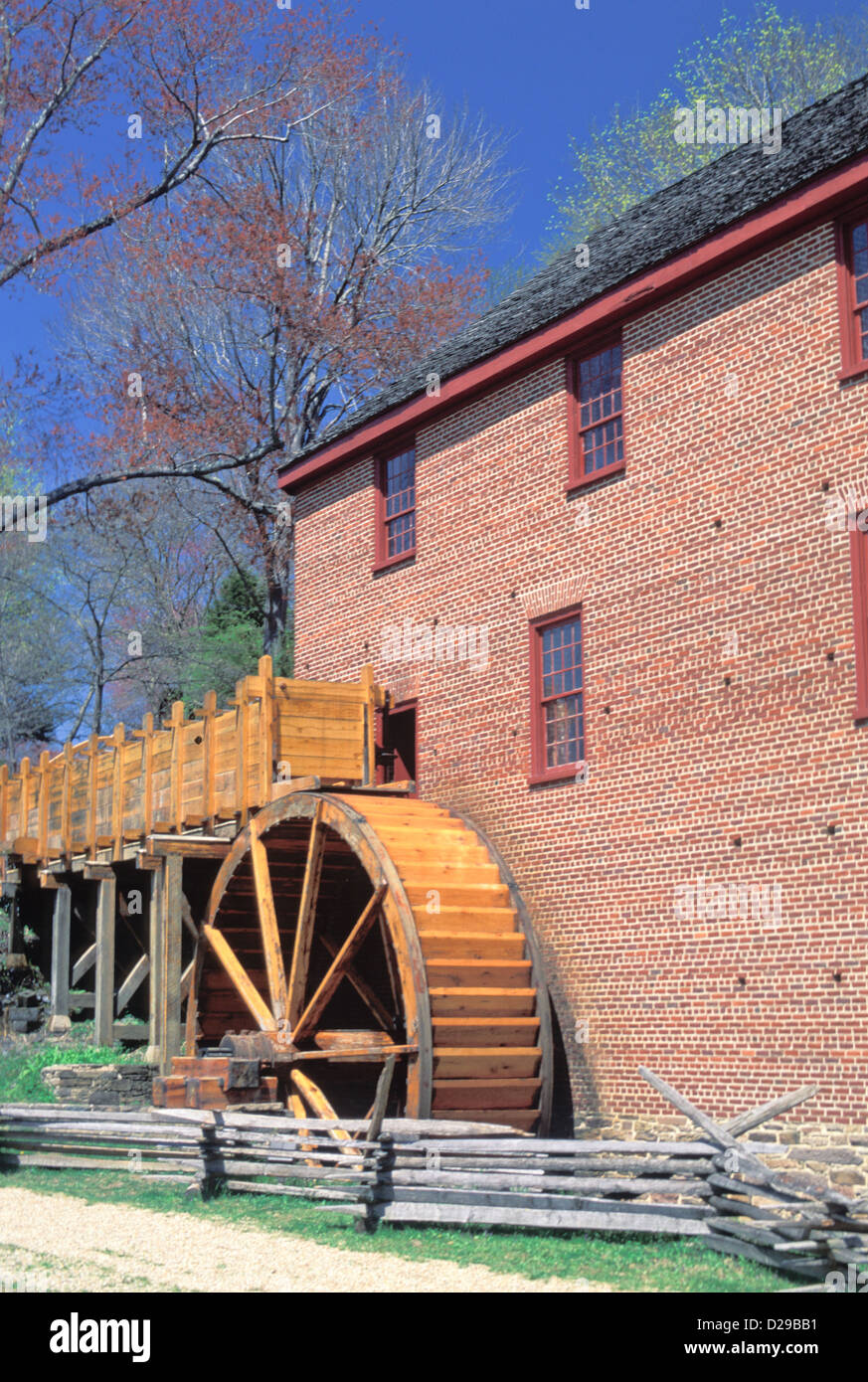 Virginia. Colvin Mill. Water Wheel . - Stock Image