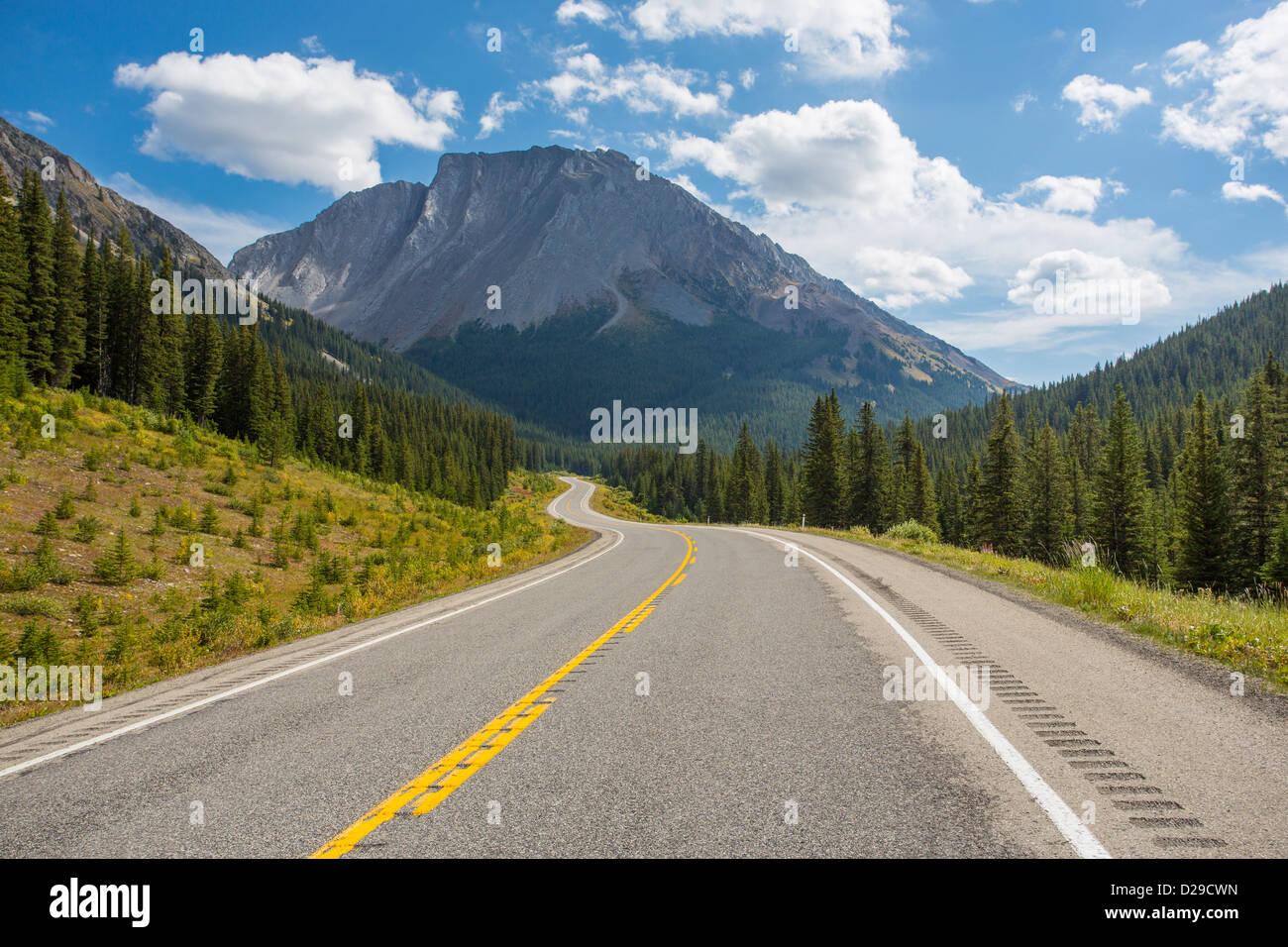 Route 40 in Kananaskis Country in Alberta Canada - Stock Image