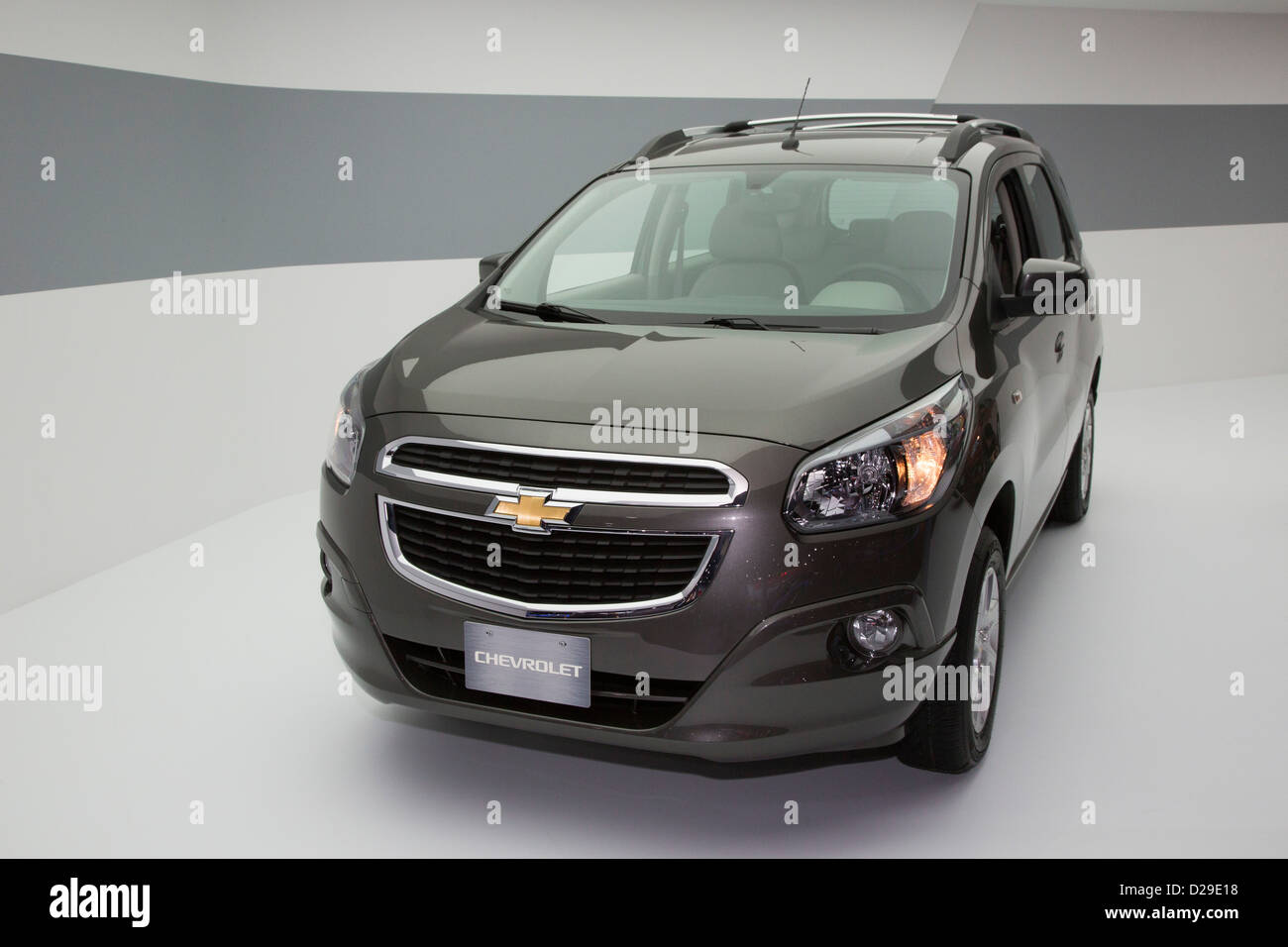 The Chevrolet Spin on display at the North American International Auto Show - Stock Image