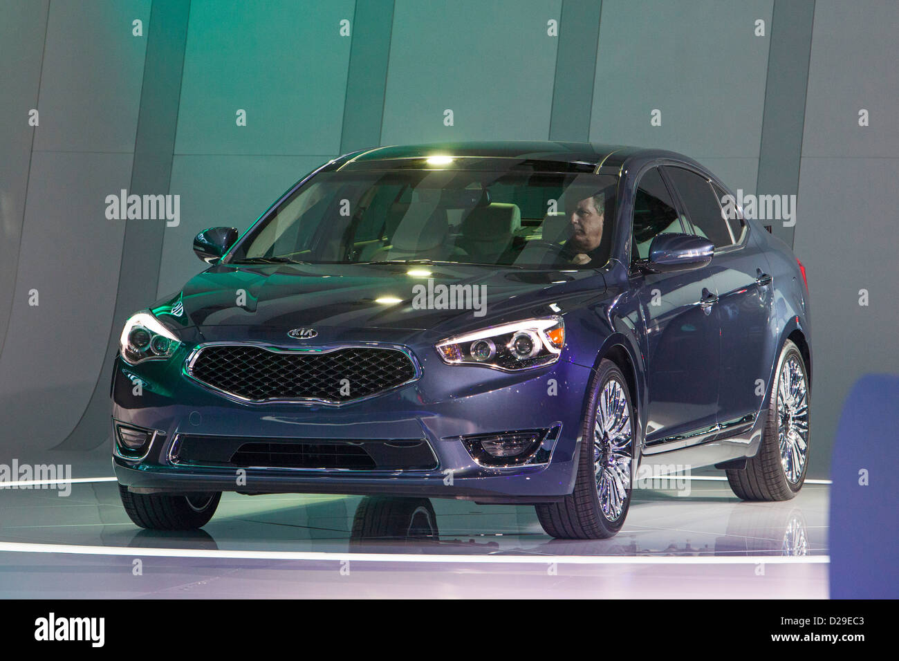 Detroit, Michigan - The Kia Cadenza on display at the North American International Auto Show. Stock Photo