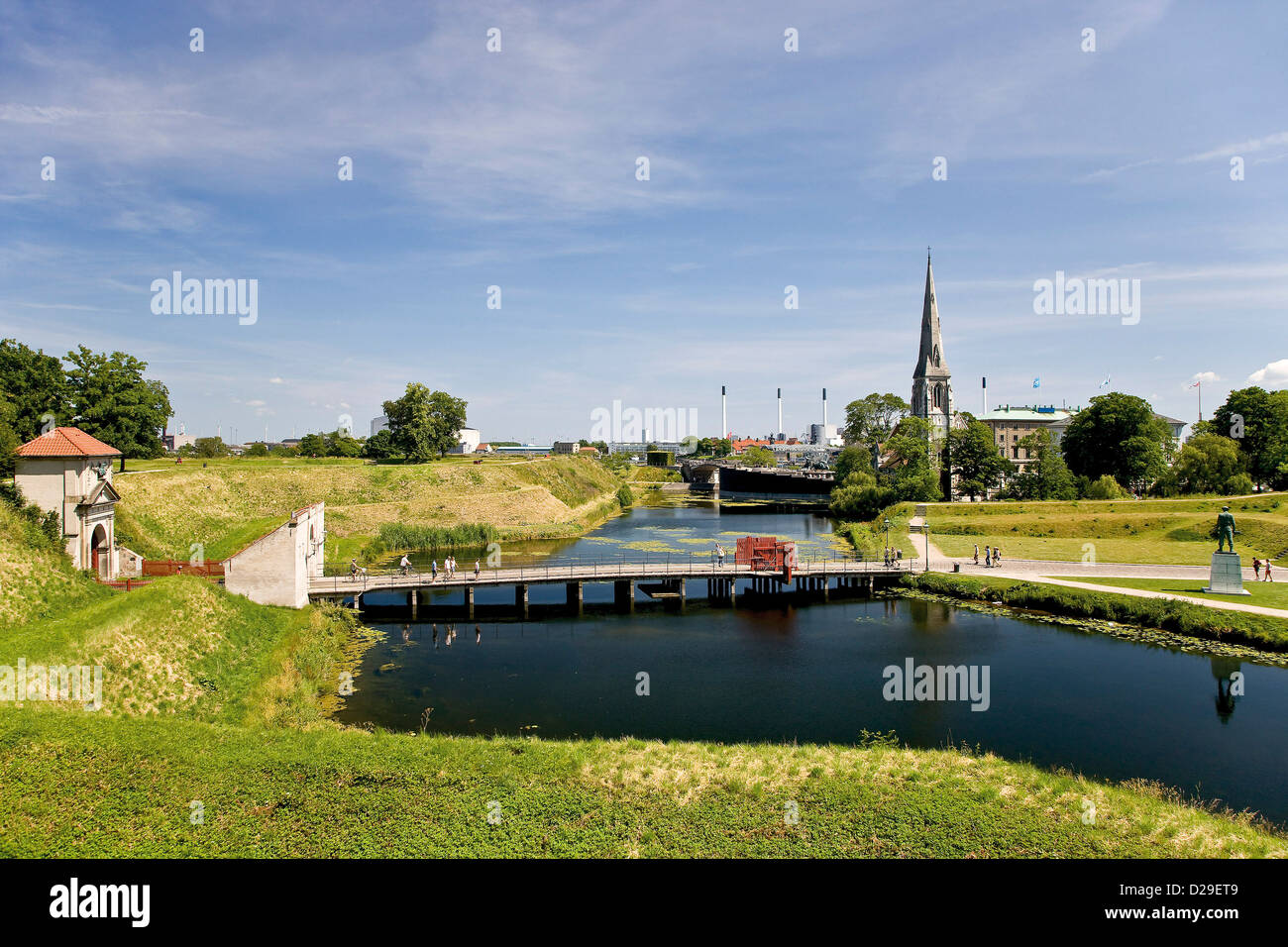 View from Kastellet towards the ent - Stock Image