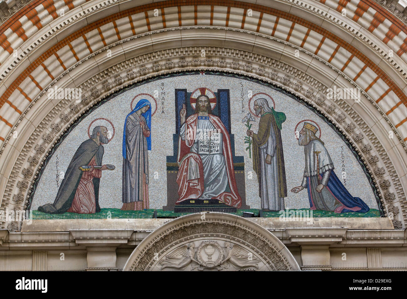 Westminster Cathedral in London - Stock Image