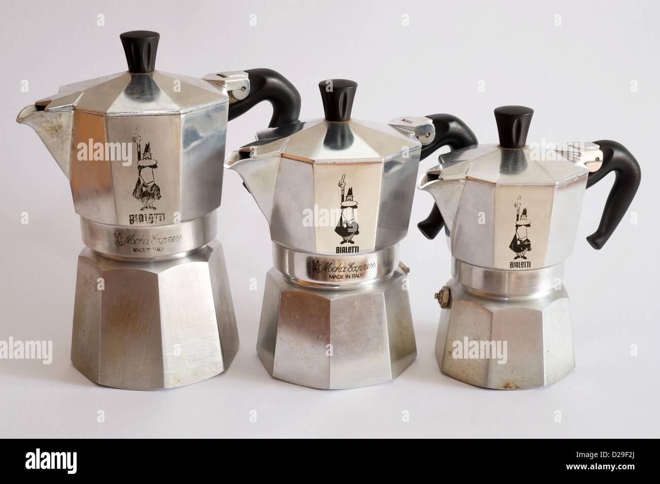 Bialetti moka express coffee pots - Stock Image