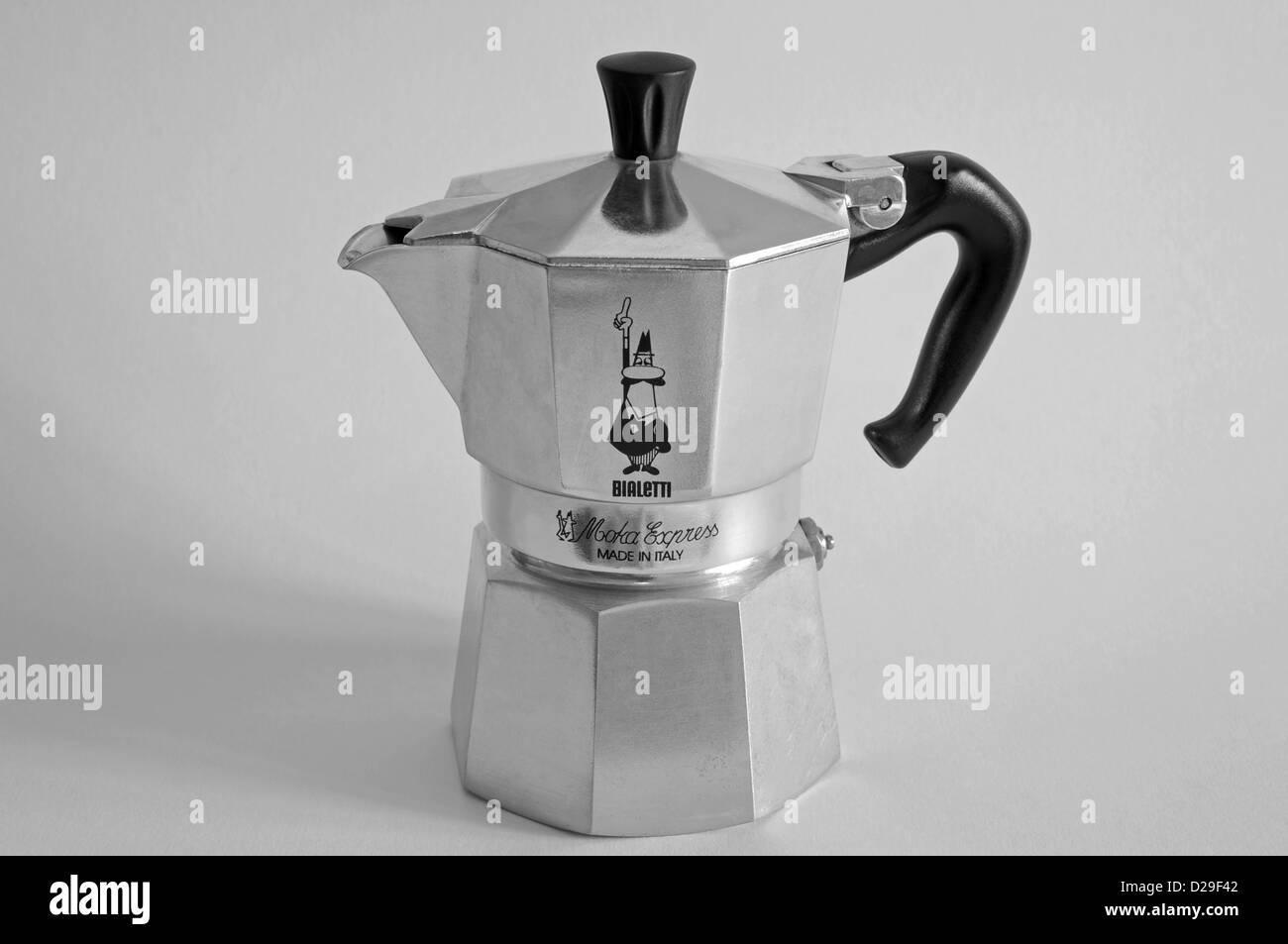 Bialetti moka express coffee pot - Stock Image