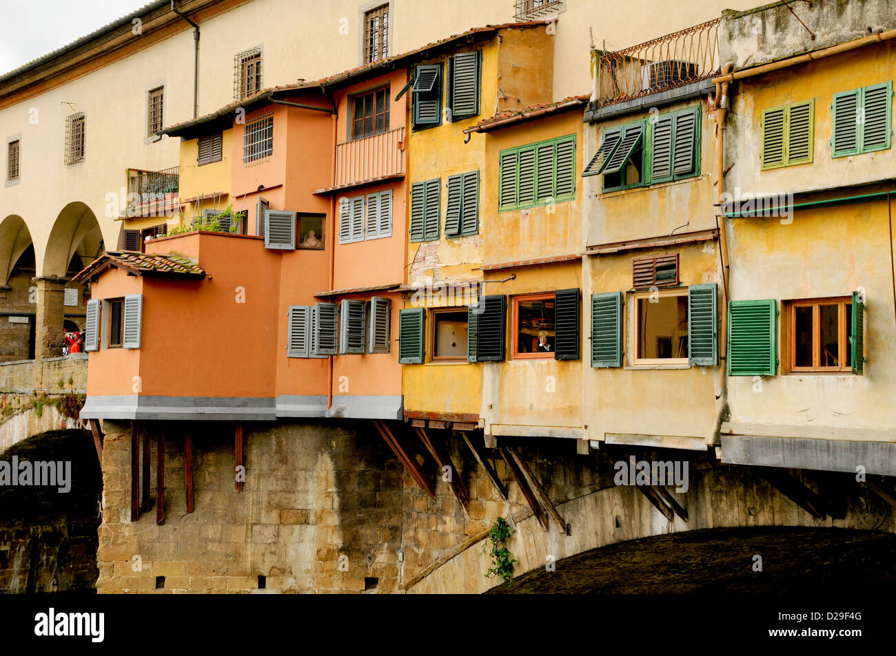 Rear Of Ponte Vecchio, Florence, Italy - Stock Image