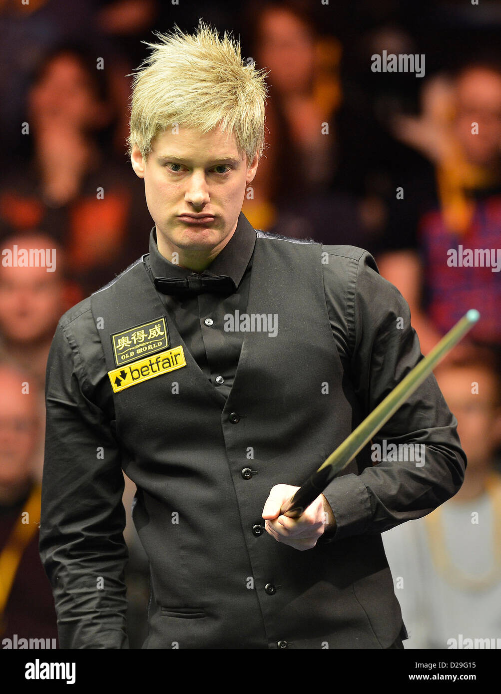 17.01.2013 London, England. Neil Robertson in action against Mark Allen during the Masters Snooker from Alexandra - Stock Image