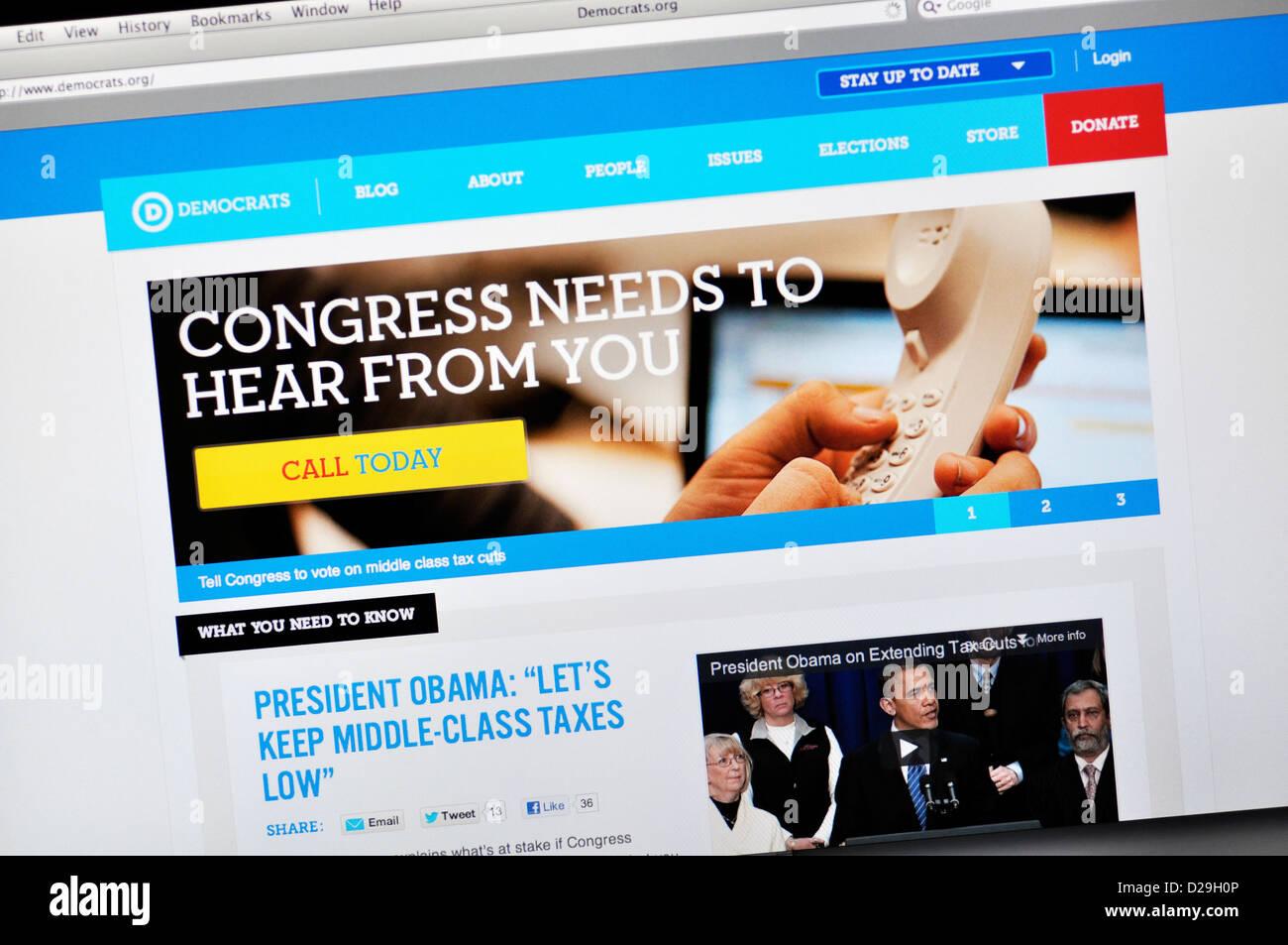 Democrats.org website - Democratic political party - Stock Image