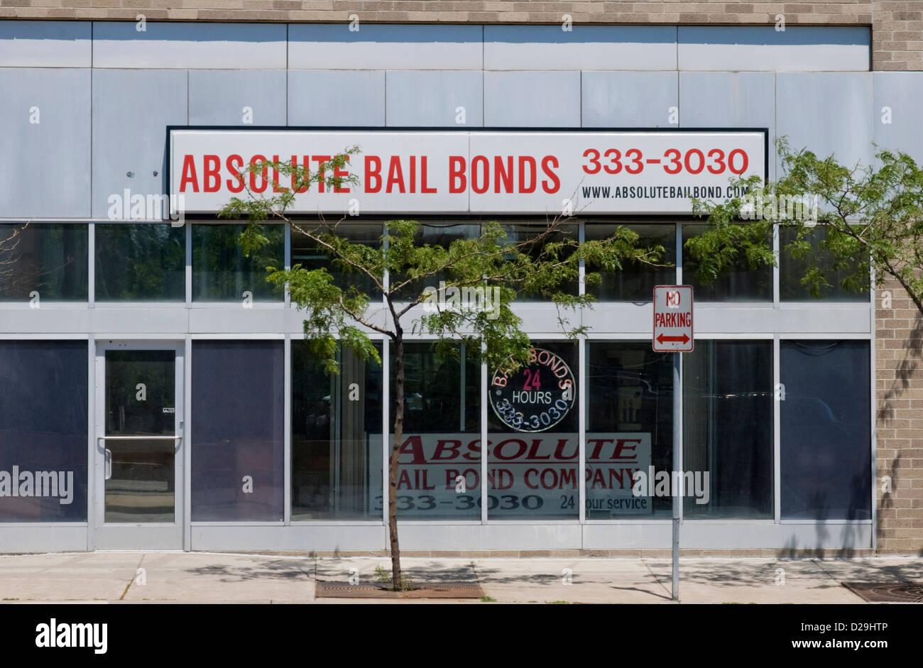 Bail bond company - Stock Image
