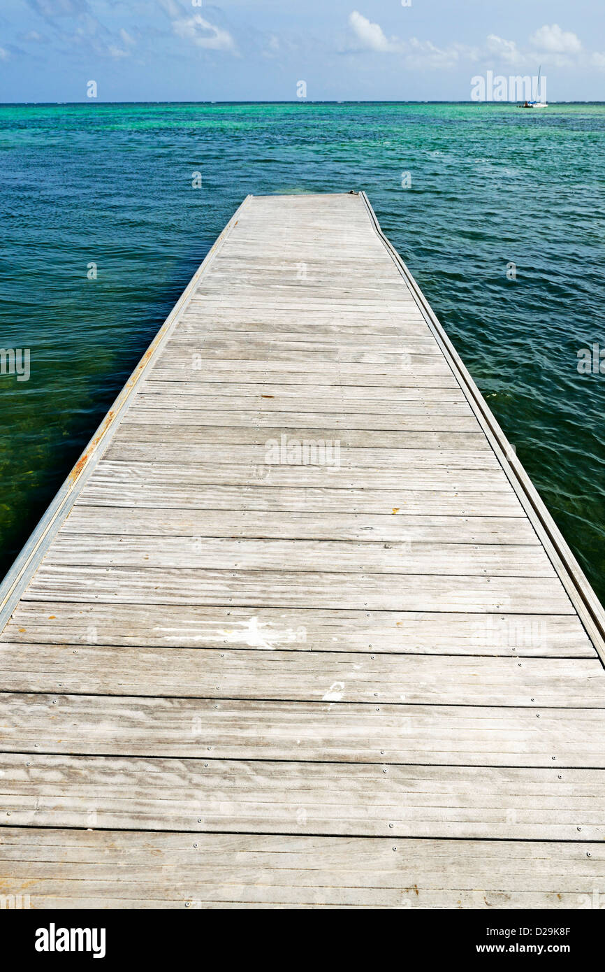 Jetty at Punta Cana, Dominican Republic - Stock Image
