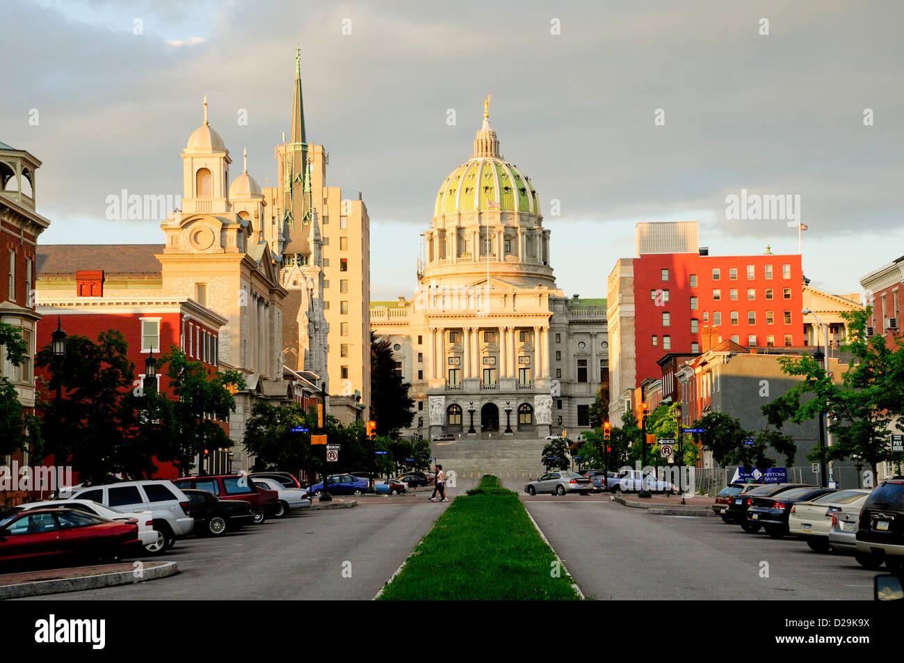State Capitol, Harrisburg, Pennsylvania - Stock Image