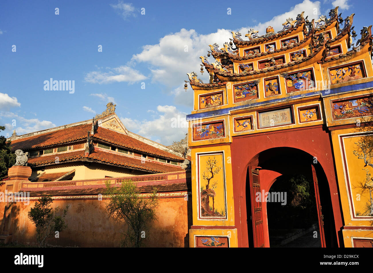 One of the gates at the Royal Citadel, Hue, Vietnam - Stock Image
