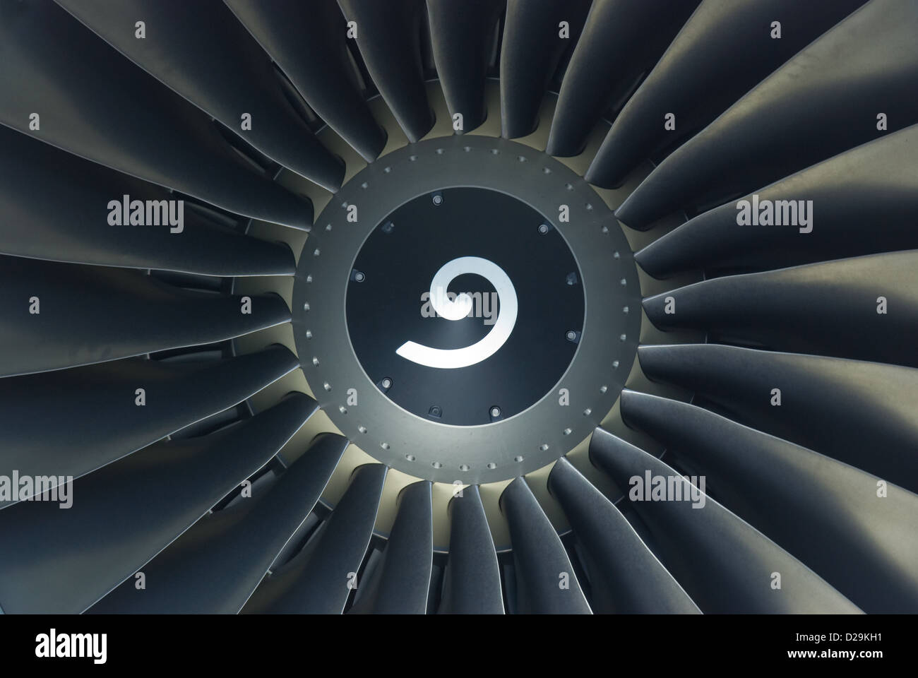 Detail of jet engine - Stock Image