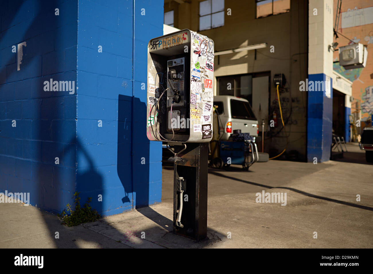 san francisco payphone - Stock Image