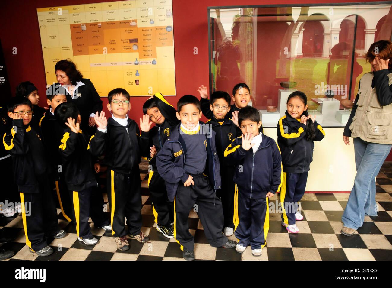 Class At Museum, Lima, Peru - Stock Image