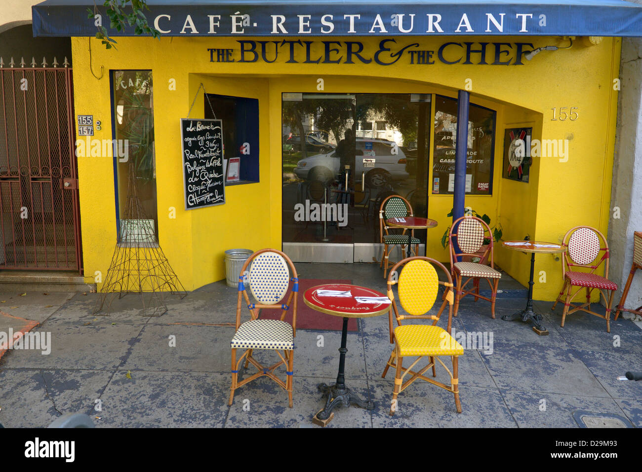 Sidewalk Cafe South Park San Francisco Usa Stock Photo 53073919 Alamy