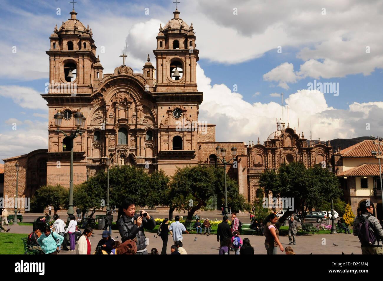 Church Of Company Of Jesus, Cuzco, Peru - Stock Image