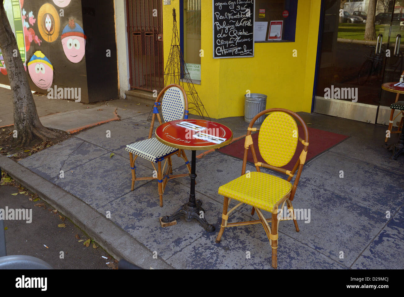 Sidewalk Cafe South Park San Francisco Usa Stock Photo 53074018 Alamy