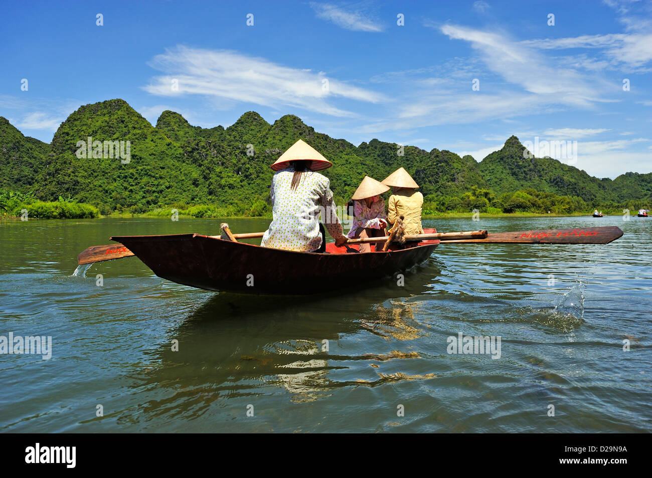 Yen River leading to Perfume Pagoda, near Hanoi, Vietnam - Stock Image