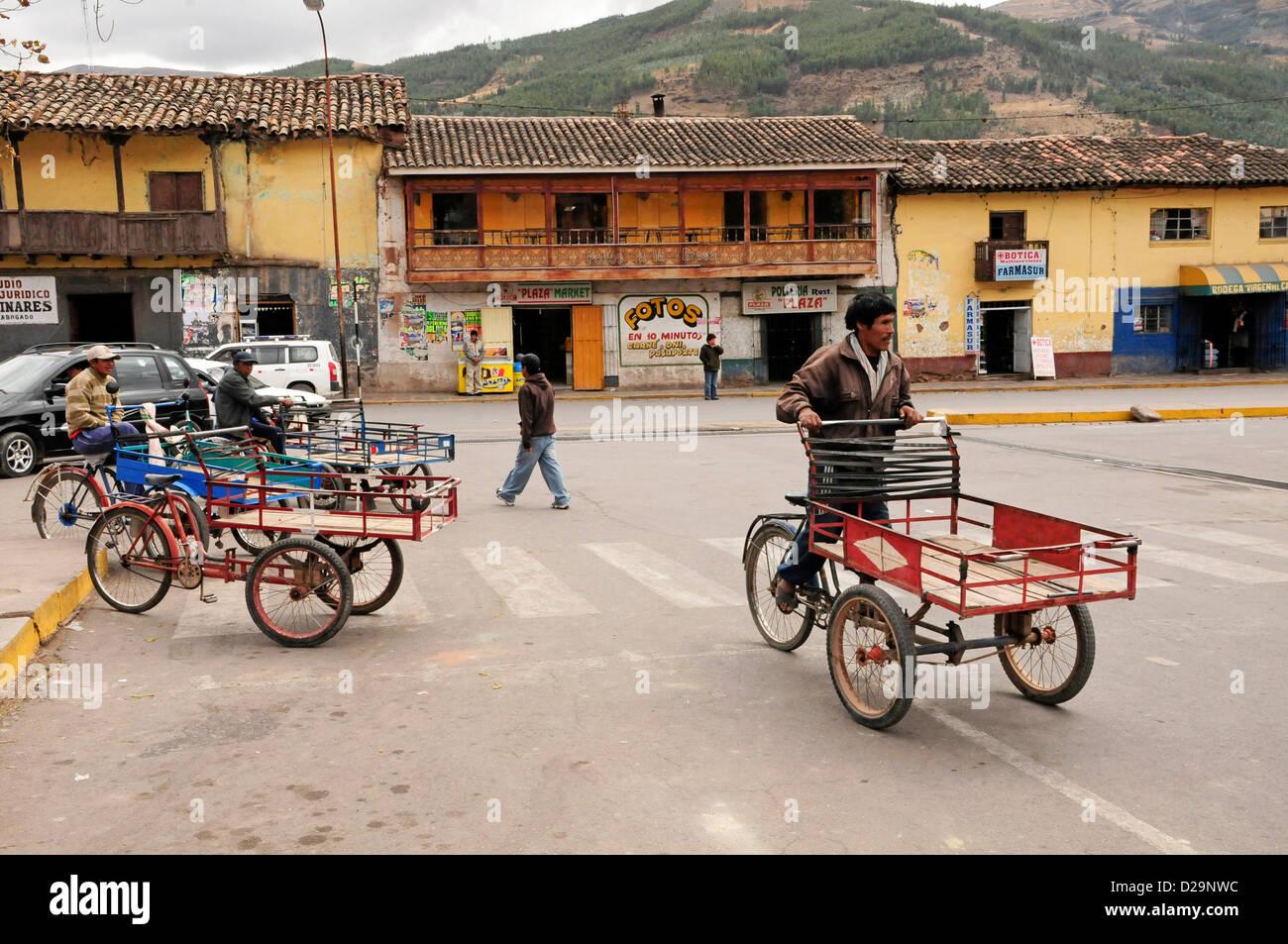 Tricycle Carts, Peru - Stock Image