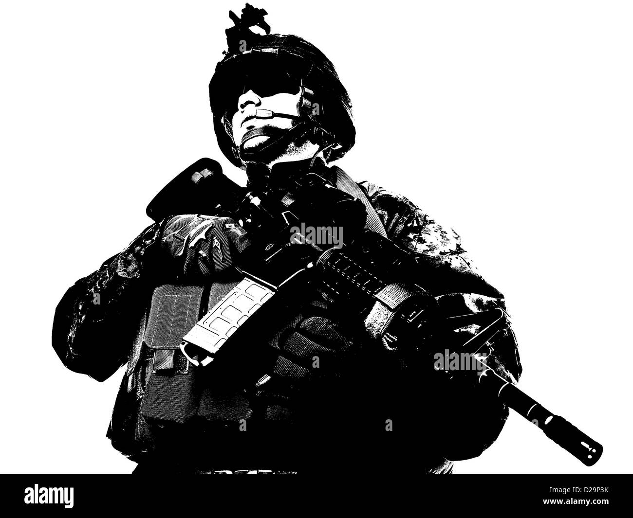US soldier - Stock Image