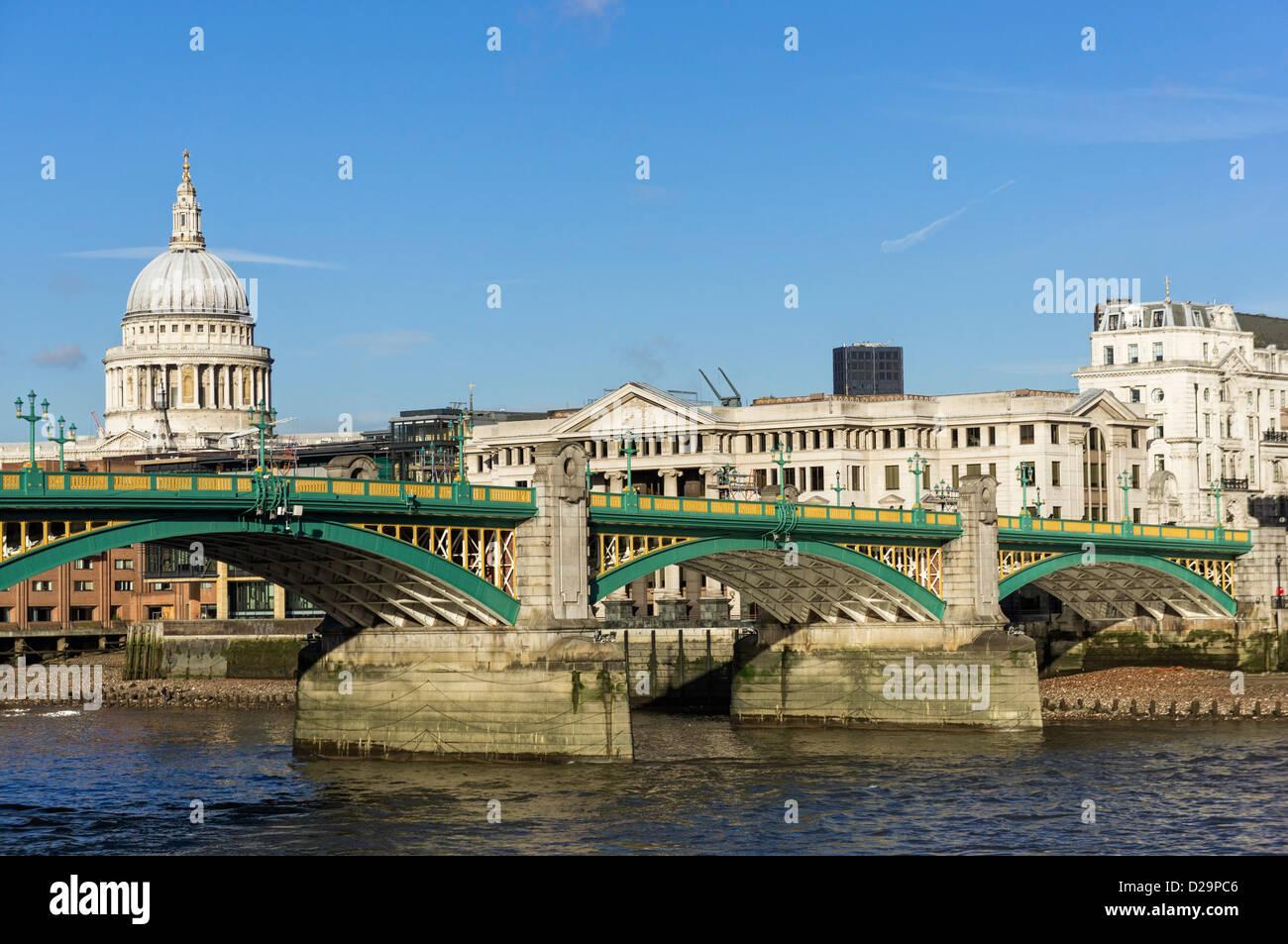 Southwark Bridge, London, UK - Stock Image