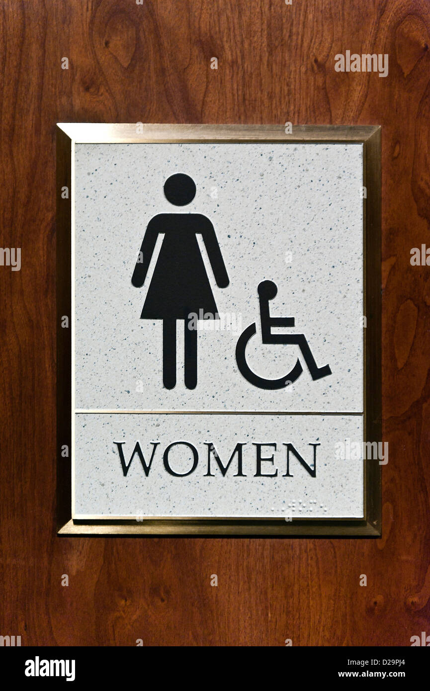 Bathroom Sign Ladies Stock Photos Bathroom Sign Ladies Stock - Ladies bathroom sign