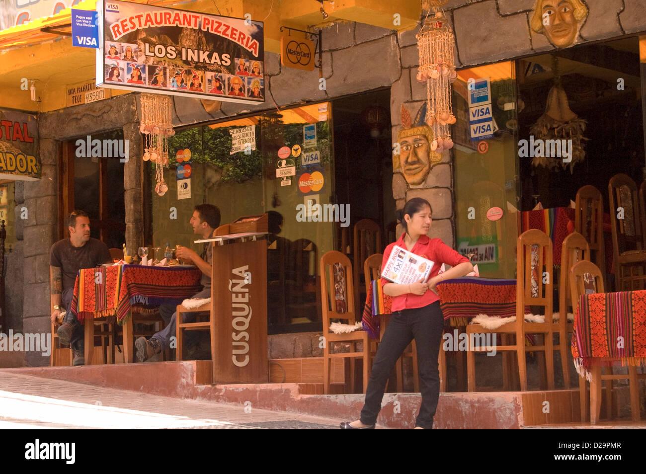 Agua Caliente (Macchu Picchu) Restaurant, Peru - Stock Image