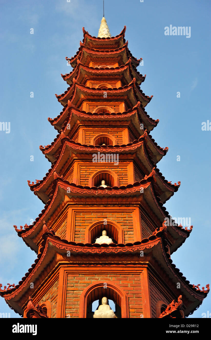 Tran Quoc Pagoda - a famous Buddhist temple in Hanoi, Vietnam - Stock Image
