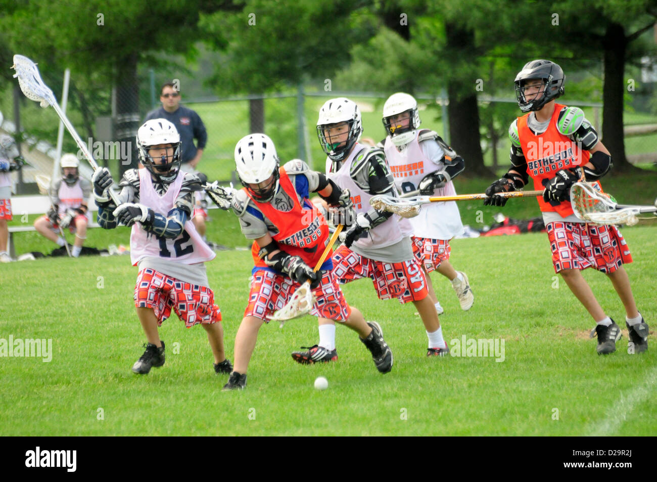 Lacrosse Game - Maryland - Stock Image