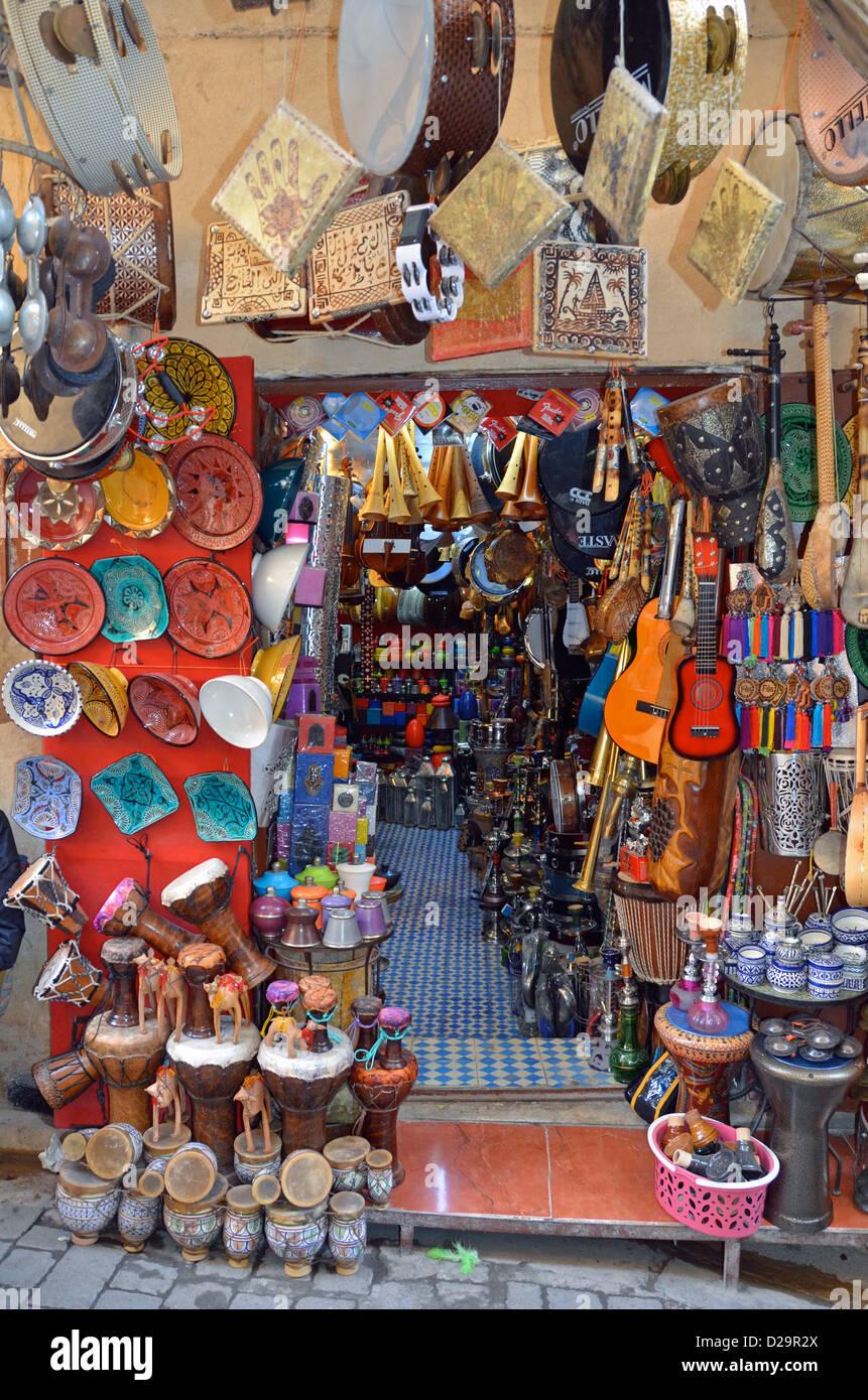 Souvenir shop, Fez, Morocco - Stock Image