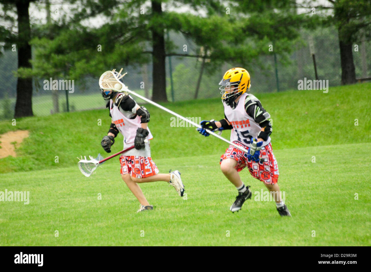Lacrosse Players - Maryland - Stock Image