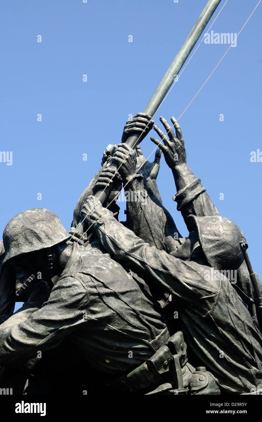 Marine Memorial Detail, Virginia - Stock Image