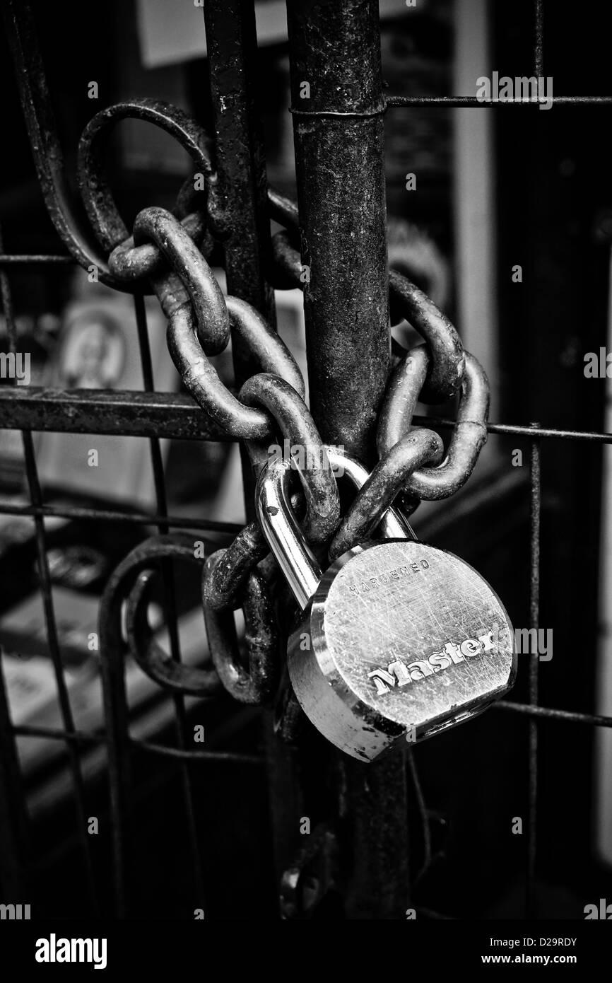 Lock door - Stock Image