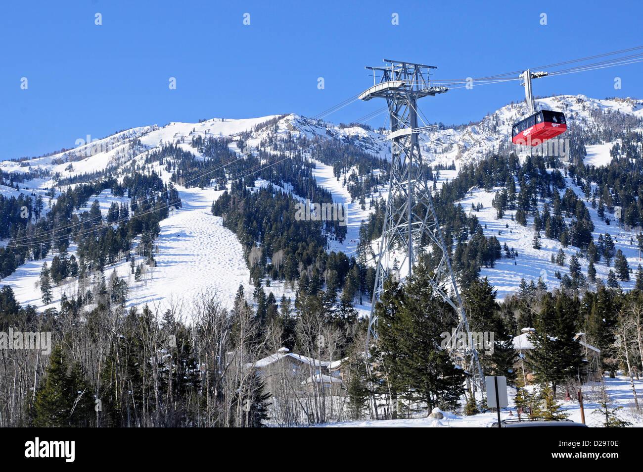 Jackson Hole, Wyoming. Ski Tram - Stock Image