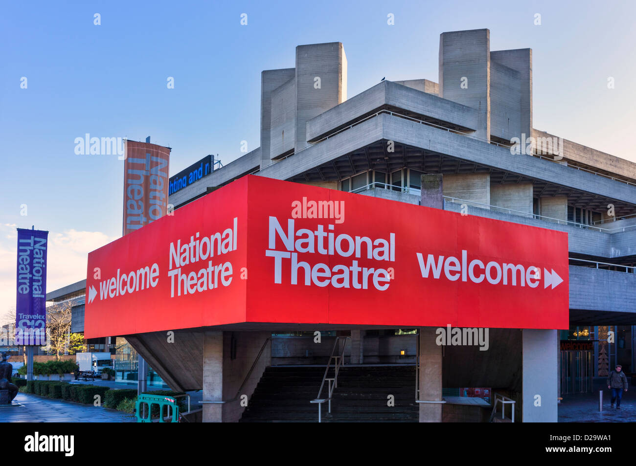 National Theatre, South Bank, London, UK - Stock Image