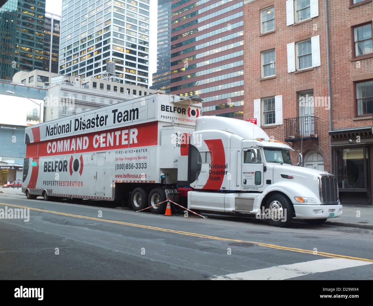 National Disaster Team truck command center - Stock Image
