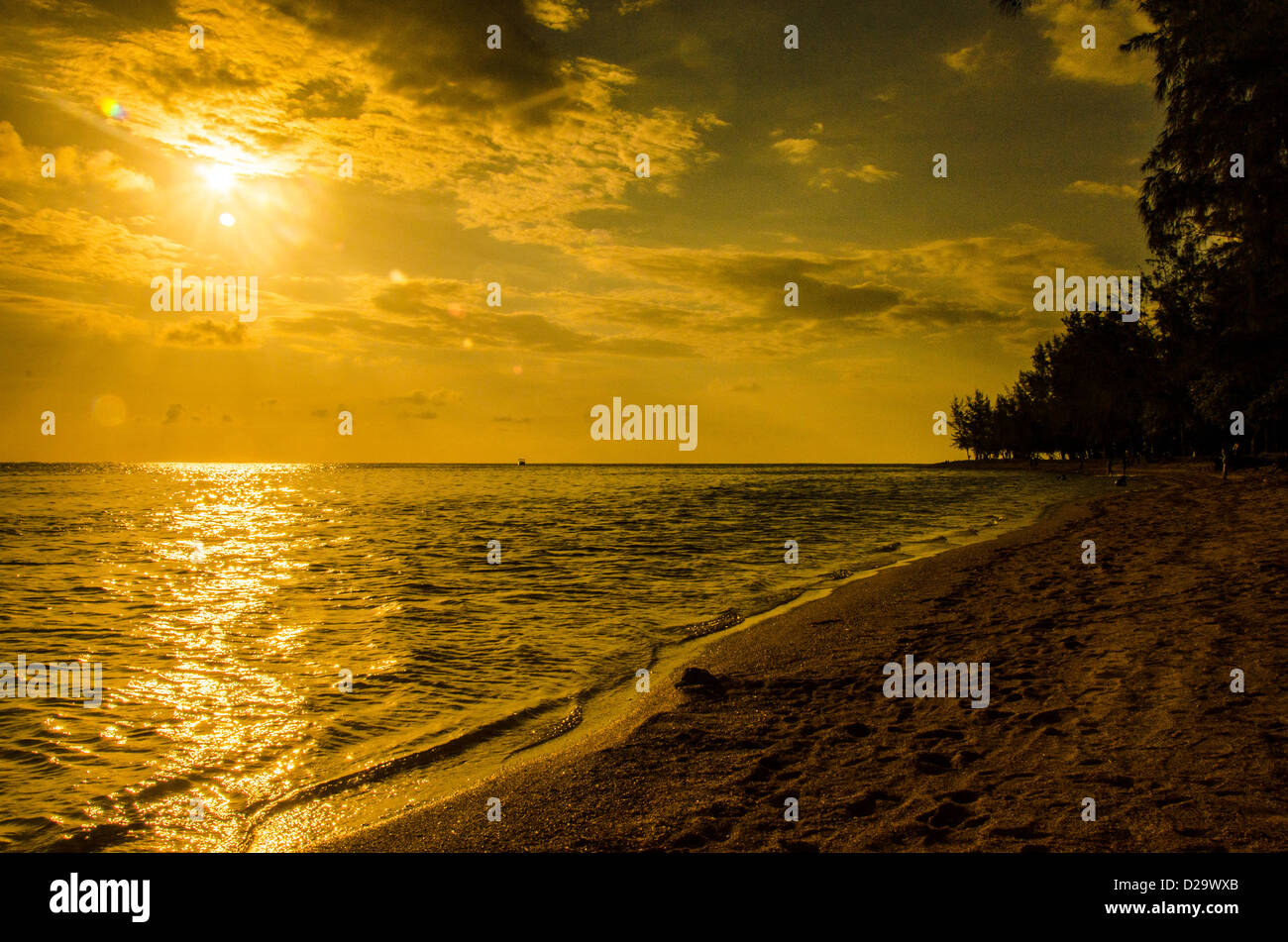 Bel Ombre sunset - Stock Image