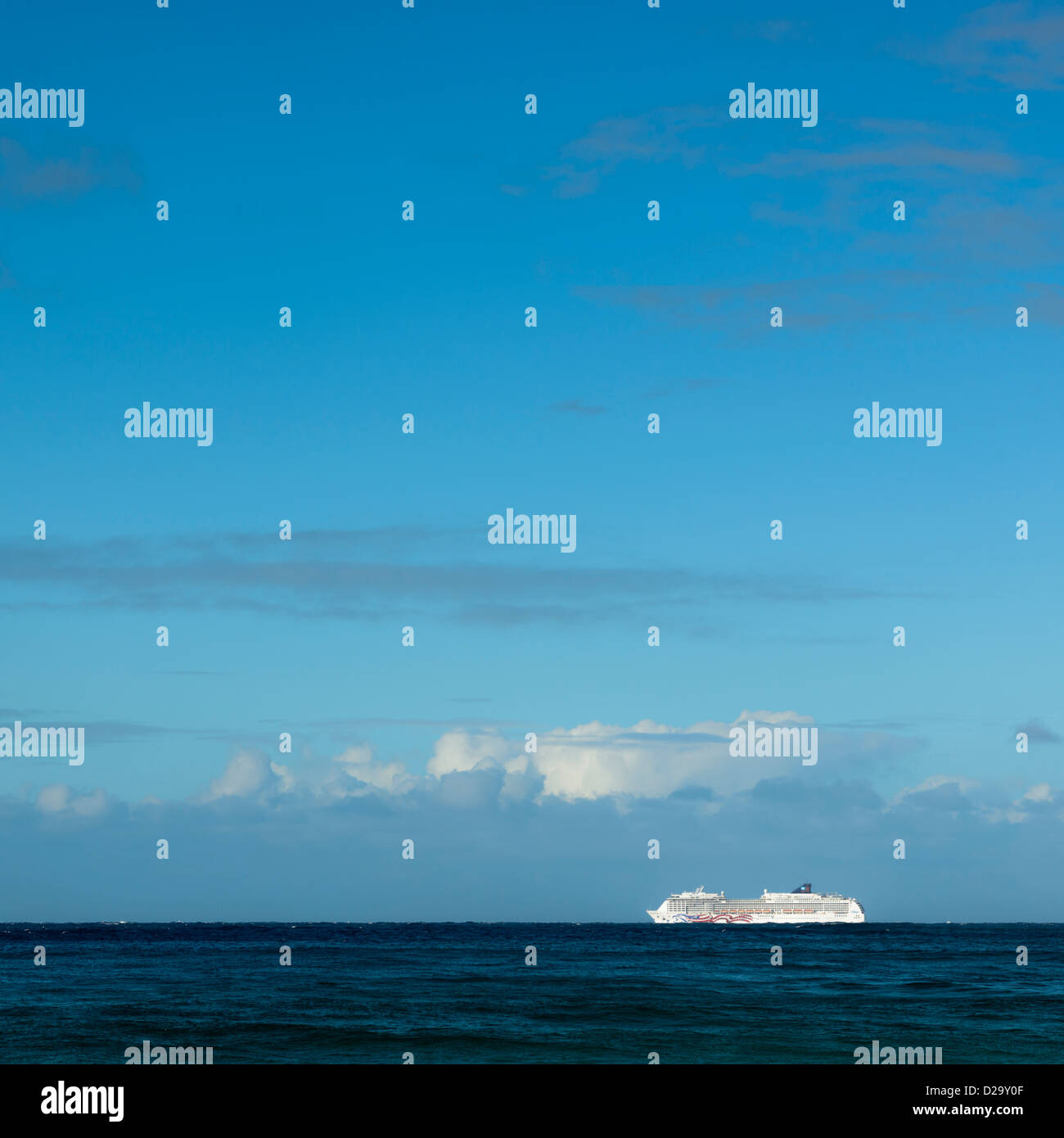 Cruise Liner, Hawaii, USA - Stock Image