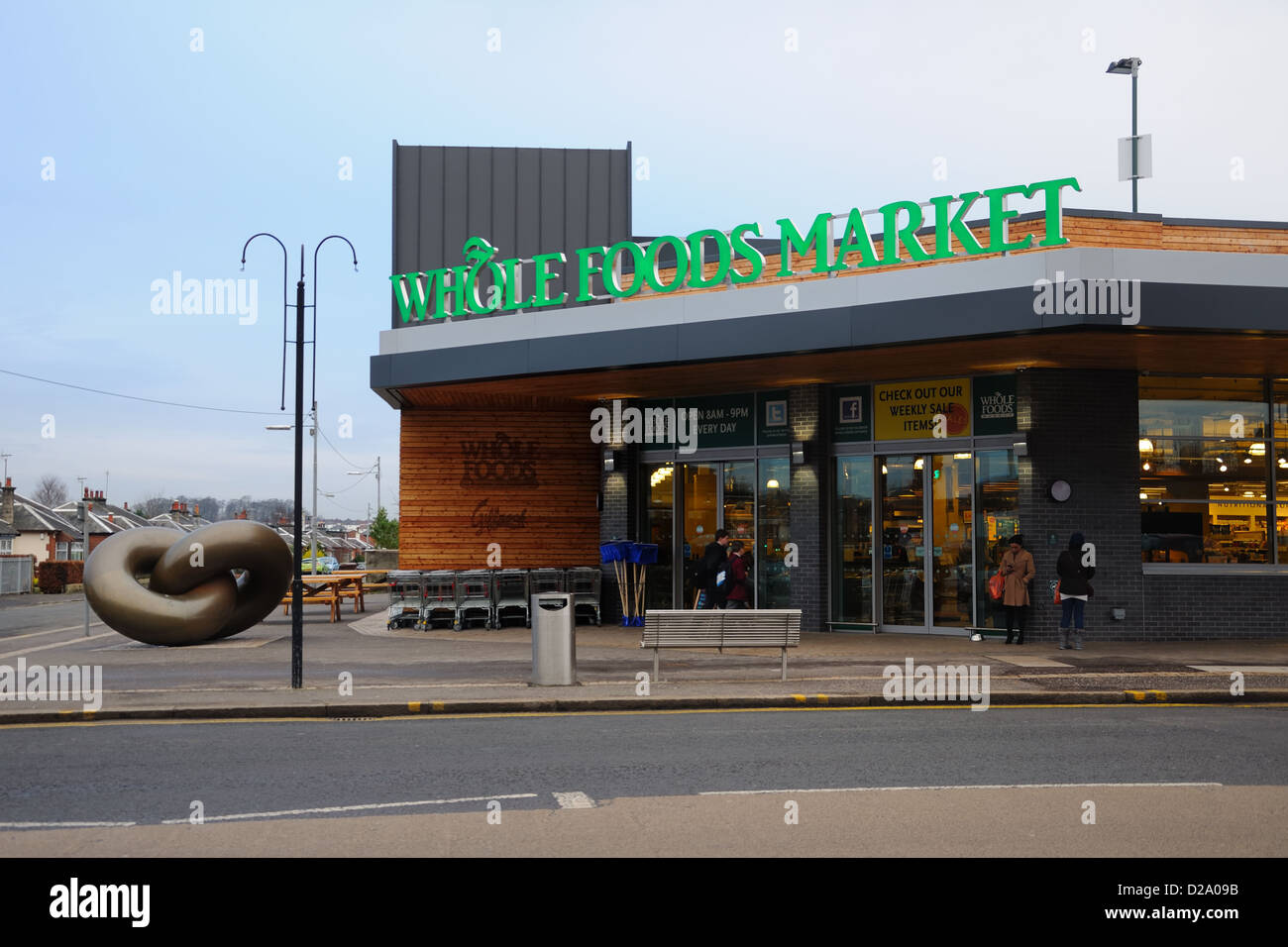 Whole Foods Market store in Glasgow. - Stock Image