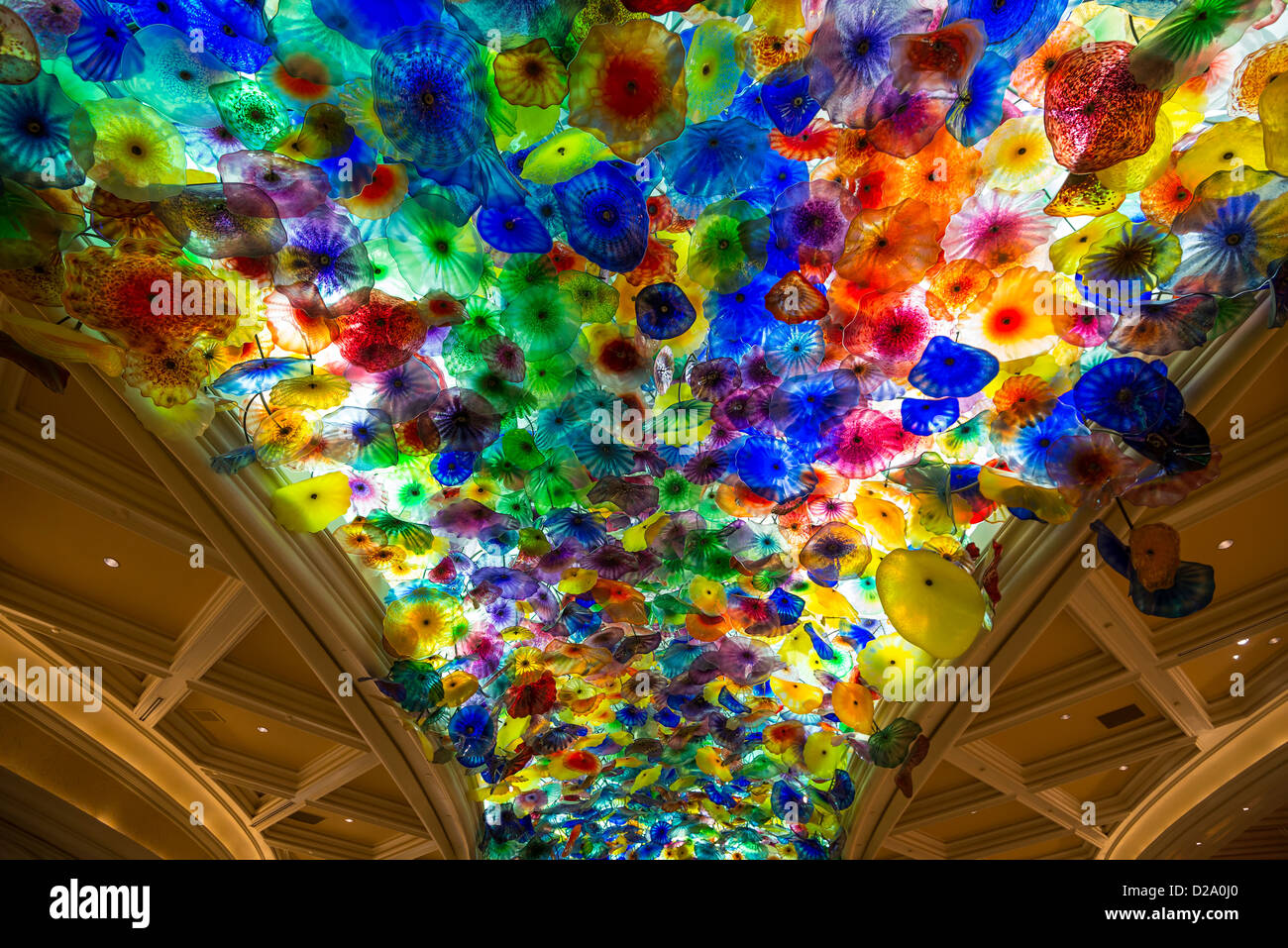 The Fantastic Ceiling Glass Sculpture Of The Bellagio From