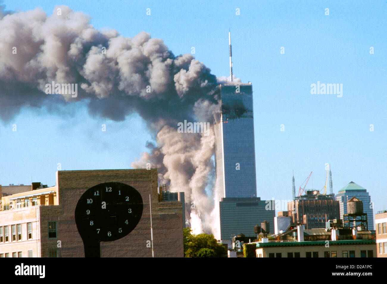New York City, 9/11/01. World Trade Center Attack. - Stock Image