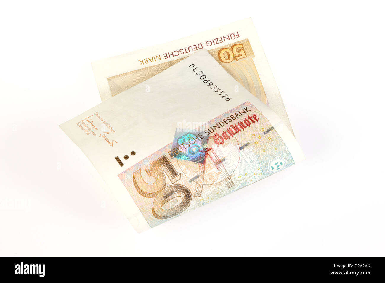 Berlin, Germany, 50 DM bill - Stock Image