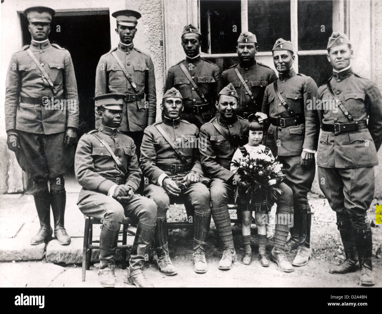 World War I. African-American Officers Of The Buffalo Soldiers. - Stock Image