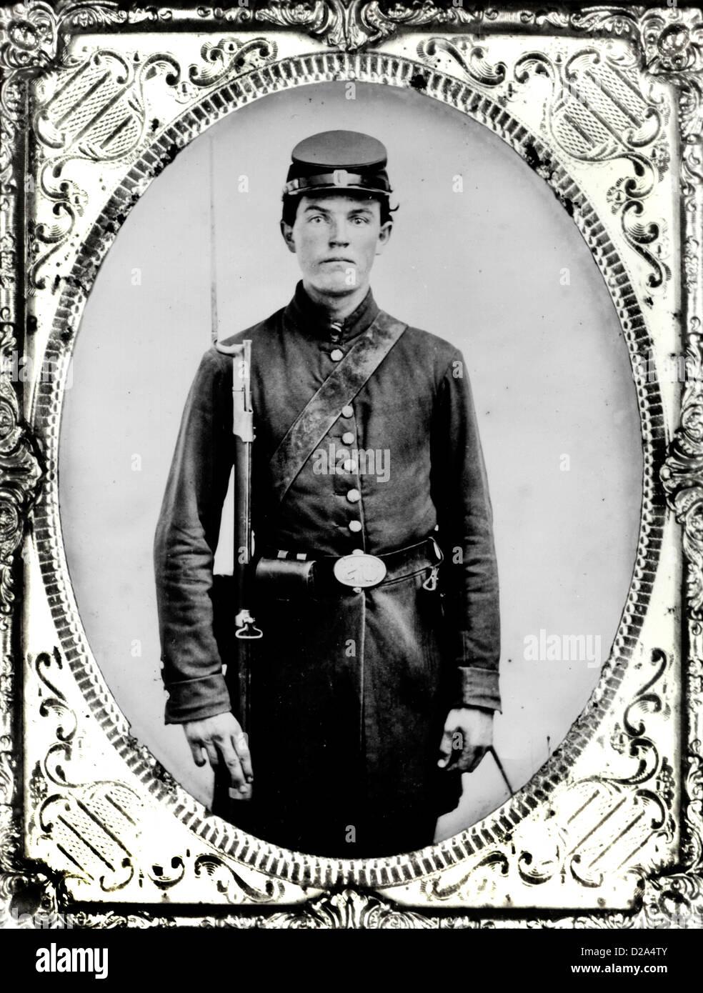 Black Soldier Civil War Stock Photos & Black Soldier Civil ... Young Civil War Union Soldiers