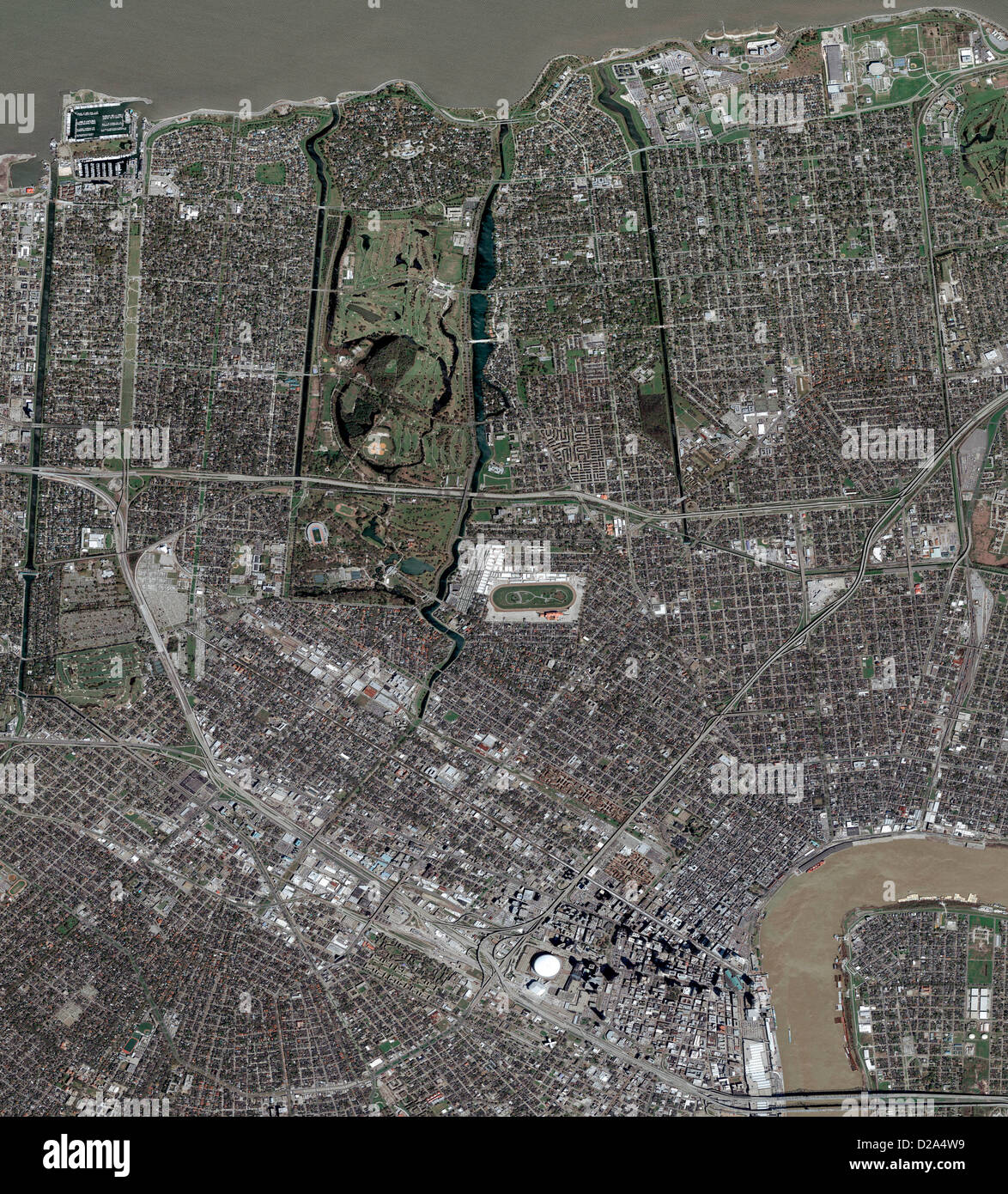 Satellite View Of New Orleans Before Hurricane Katrina (9 March, 2005). (1 Of 2 In A Series. See M2-0396 For 2Nd - Stock Image