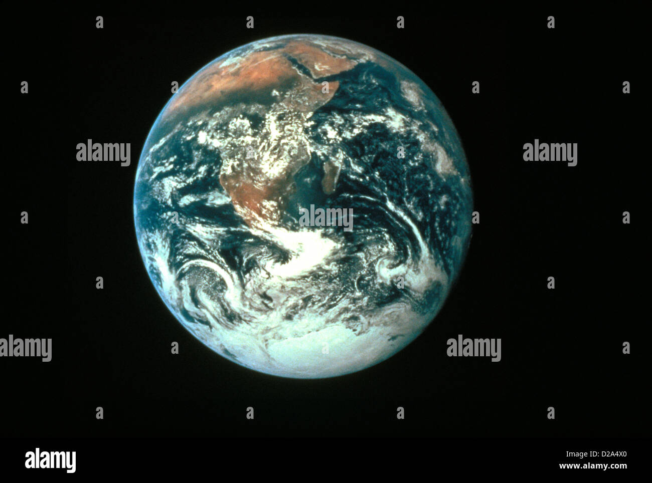 Planet Earth Seen From Space; Africa And Antarctica Visible - Stock Image