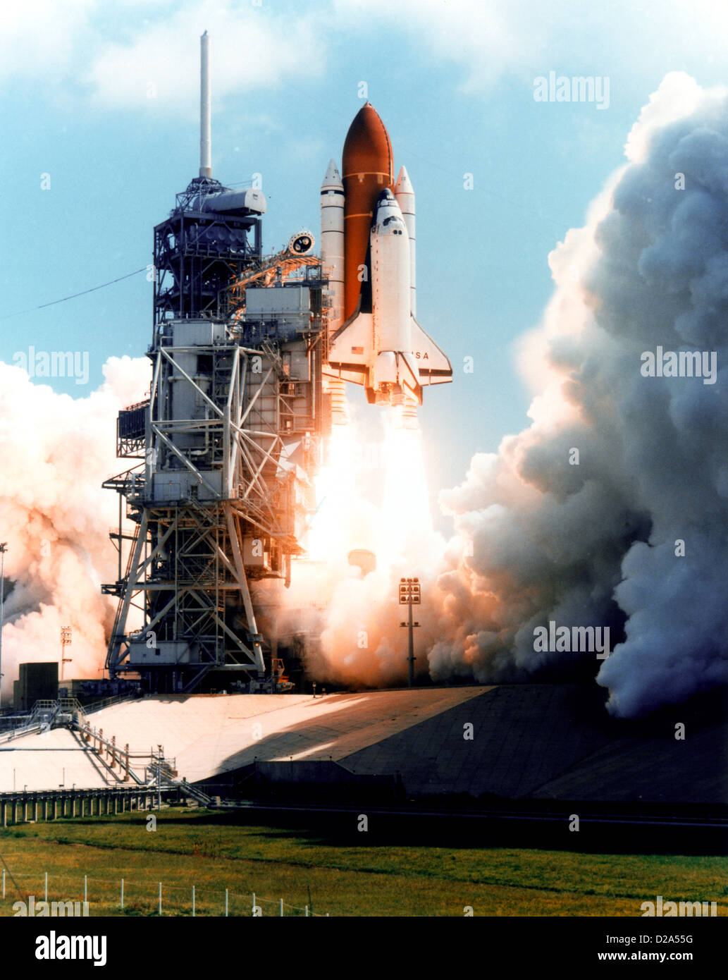 Florida, Kennedy Space Center. Lauch Of Space Shuttle Columbia. - Stock Image