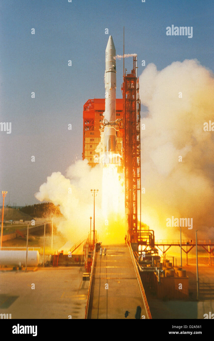 Rocket Launch: Atlas Centaur 41, Carrying Comstar D-3 (Communications Satellite), 6/78 - Stock Image