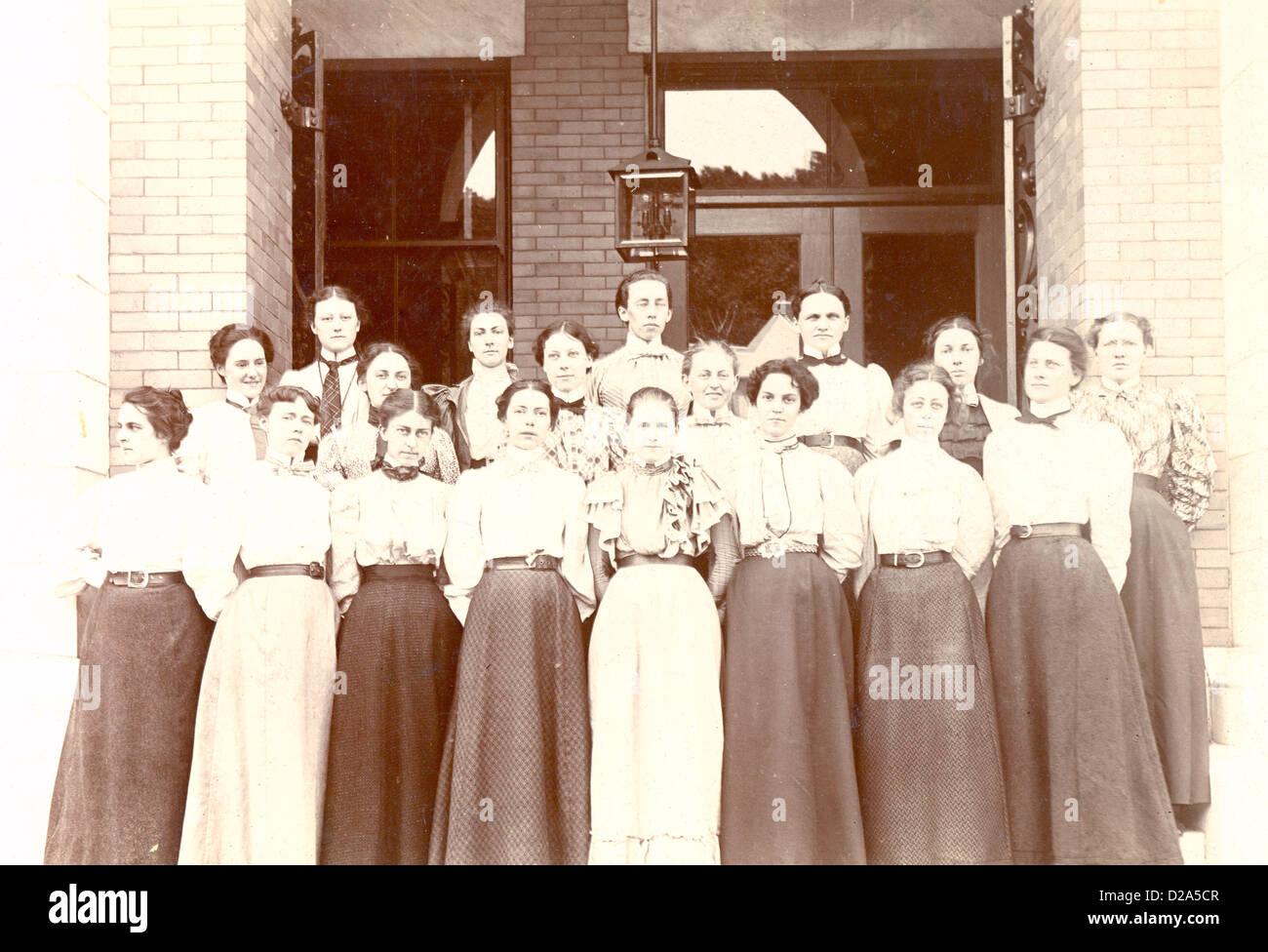 Massachusetts, North Adams Normal School Glee Club Group Portrait. Class Of 1897. - Stock Image