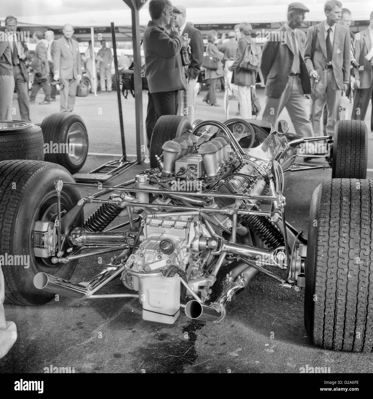 1967 Lotus 49  in the paddock at Goodwood  motor racing circuit, West Sussex. UK September 1999 - Stock Image